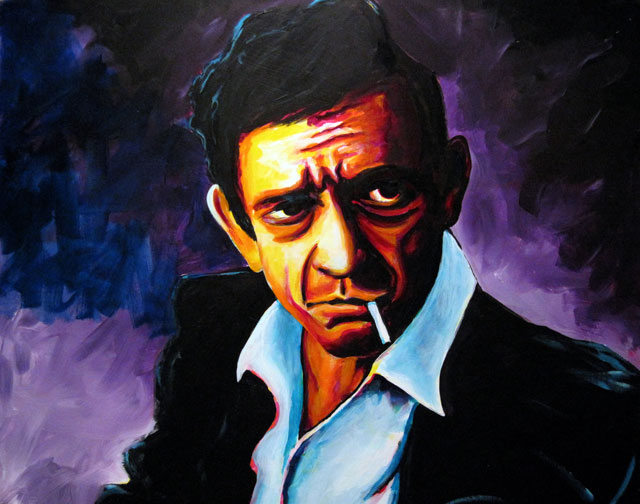 "Johnny Cash 30""x40"""