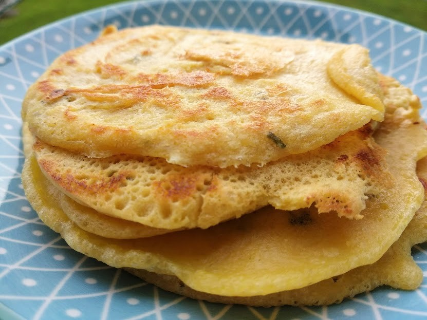 Pancakes salati di ceci