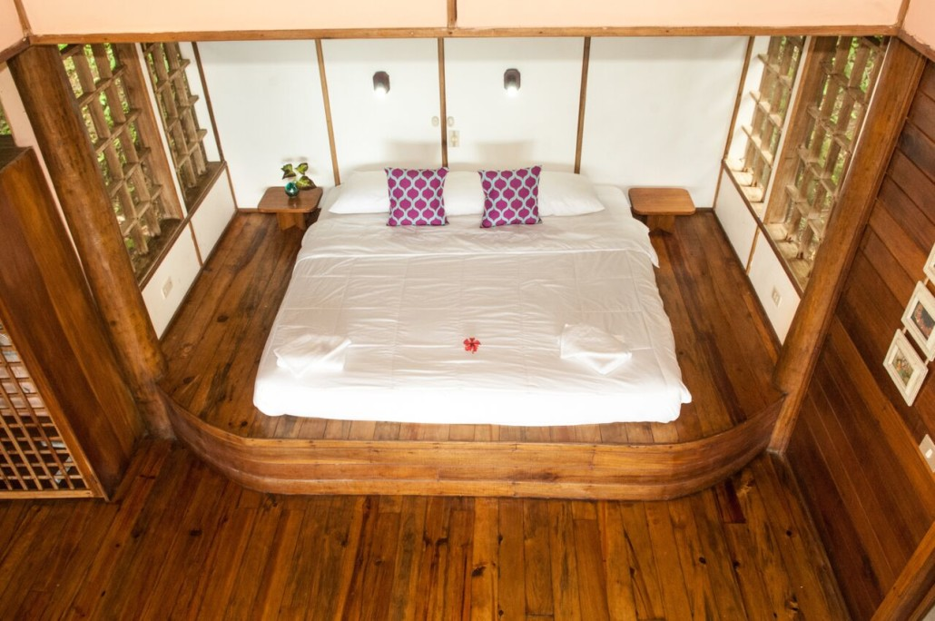 One of the rooms at the Samasati Retreat and Rainforest Sanctuary