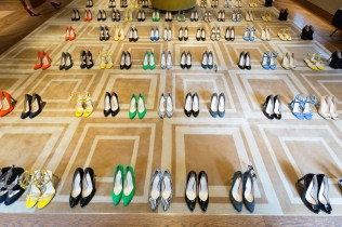©2017 Tom Nicholson 12/06/2017. London, UK. Lorraine Archambeaud hosts a presentation of the Bettina Vermillon Paris Summer 2017 Collection at The Devonshire Club, London. Photo credit : Tom Nicholson
