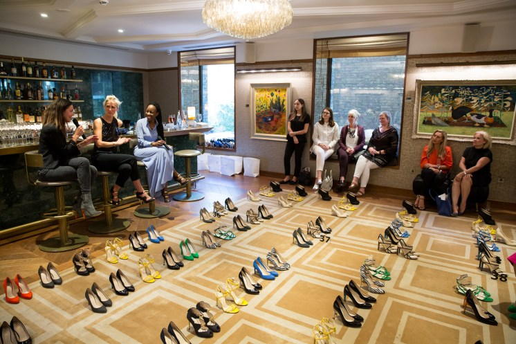 ©2017 Tom Nicholson 12/06/2017. London, UK. Lorraine Archambeaud hosts a presentation of the Bettina Vermillon Paris Summer 2017 Collection at The Devonshire Club, London. Photo credit : Tom Nicholson