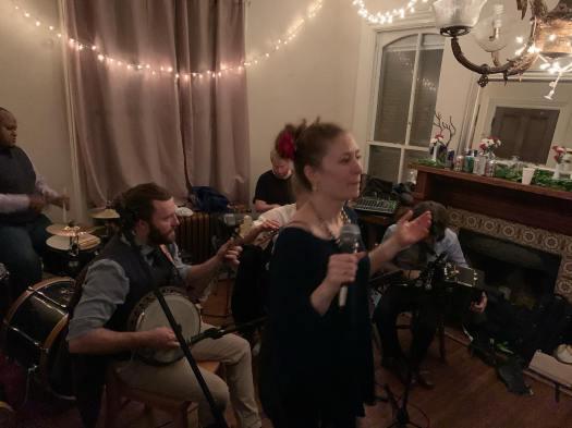 Kate Spanos calls céilí