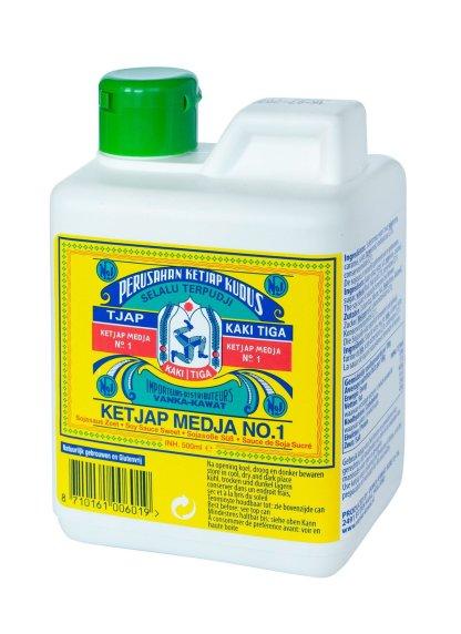 Ketjap-Kaki-Tiga-Medja-No1-can-500-ml-