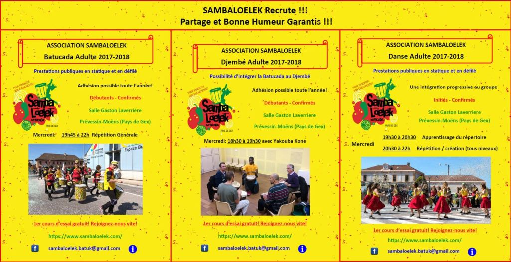 Sambaloelek recrute 17-18