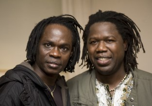 Samba Sene with Baaba Maal - backstage at Celtic Connections - photo by marc marnie