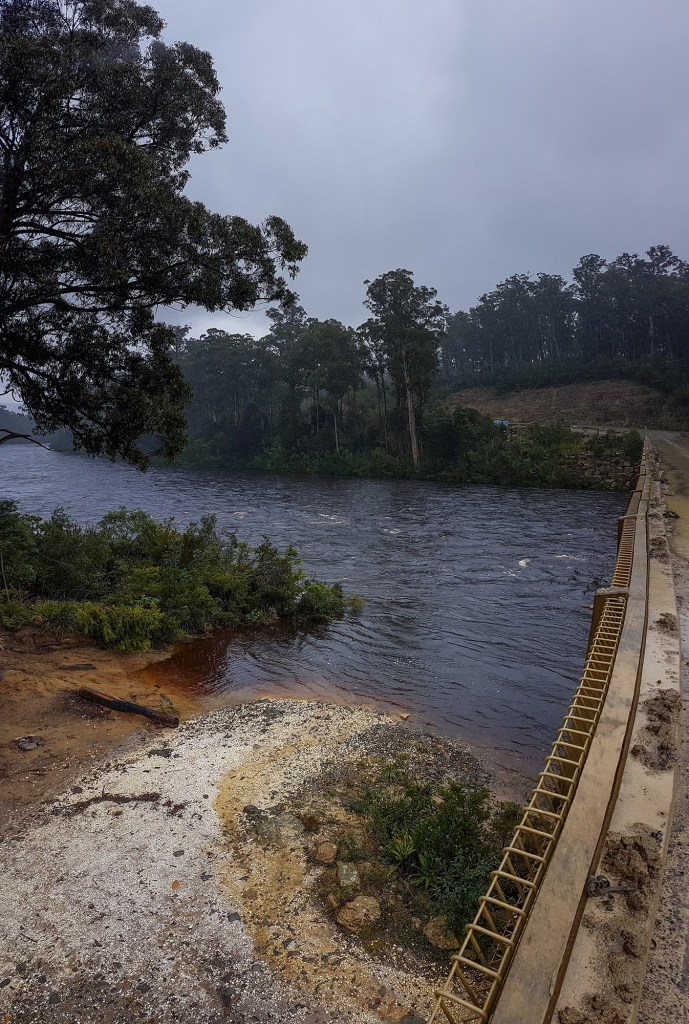 The Huon river flowing