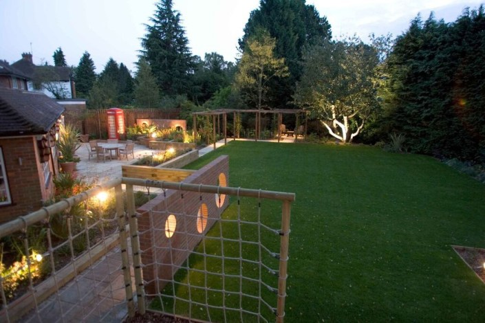 Garden with lighting by Sam Coles Lighting