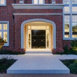 Front door and entrance porch with lighting by Sam Coles Lighting