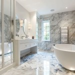Bathroom with lighting by Sam Coles Lighting