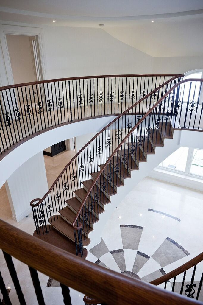 Large stairway and banister