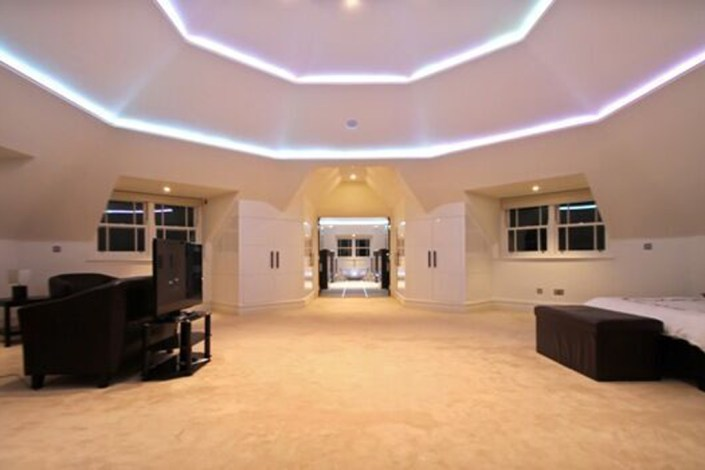 Bedroom ceiling lighting by Sam Coles Lighting 02