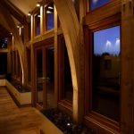 Lounge lighting with wooden beams by Sam Coles Lighting 04
