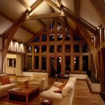Lounge lighting with wooden beams by Sam Coles Lighting 01