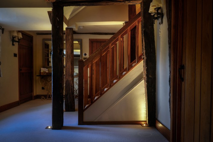 Stairs and floorlights