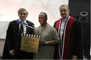 Chairman of AFDA Garth Holmes with Mayor of Durban Cllr James Nxumalo who officially opened the AFDA Durban school.