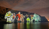 At 80 metres high and 500 metres wide, the digital projection on the White Cliffs of Dover became the biggest projection ever in the UK. Images (c) Disney 2013