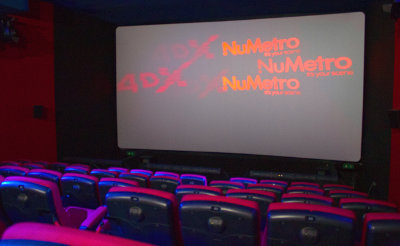 The curved, silver screen used in the 4DX cinema offers superior brightness.
