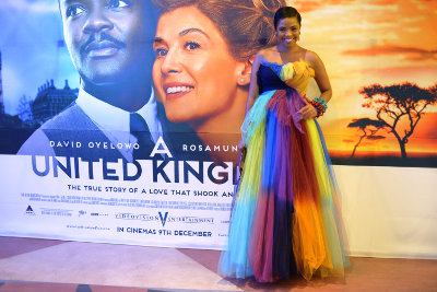Actress Terry Pheto at the premiere of A UNITED KINGDOM