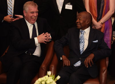 Prince Andrew and Sir Ketumile Masire (2nd President of Botswana)