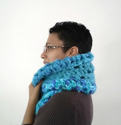 Super Chunky Super Warm Scarf Left Side View