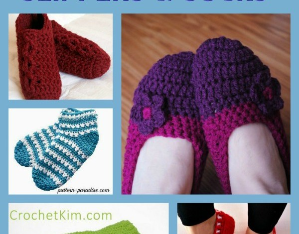 Crochet Slippers and Socks Pattern Collection