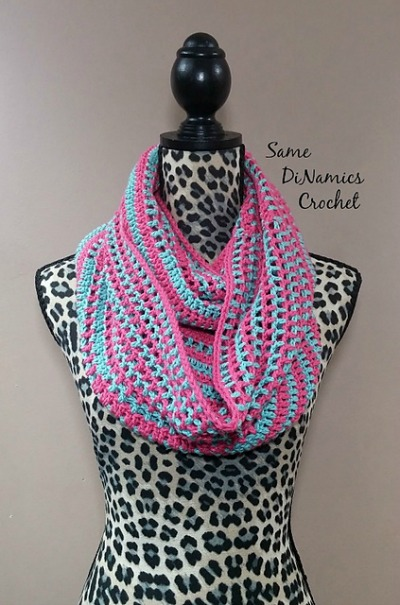 Candy Stripes Cowl