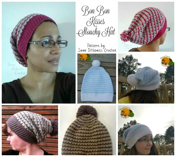 Bon Bon Kisses Slouchy Hat Collage