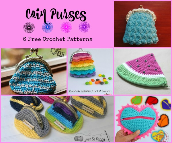 These cute and small coin purses will help keep your coins and small items together in your purse.
