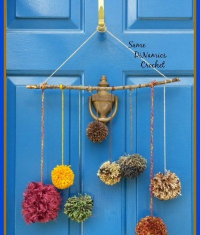 Pompom Front Door Decoration Free Pattern