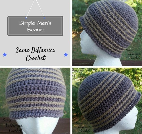 Simple, Men's Beanie Free Crochet Pattern