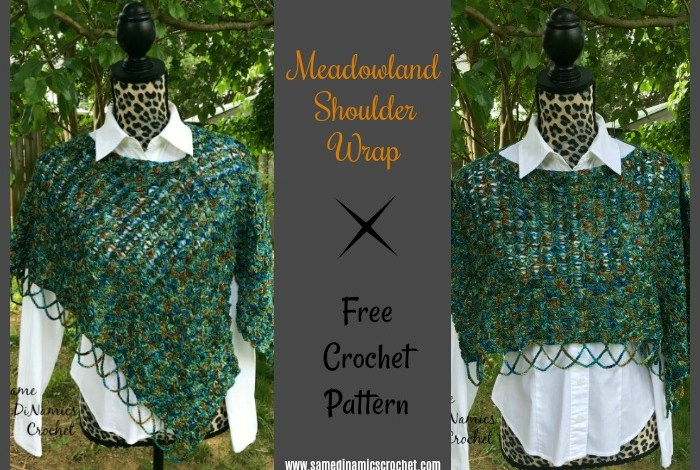 Meadowland Shoulder Wrap Free Crochet Pattern