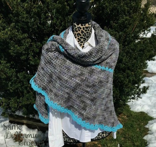 Misty River Shawl Free Crochet Pattern