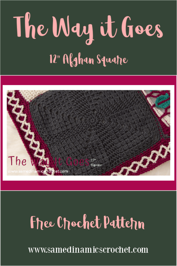 "The Way it Goes 12"" Afghan Square Free Crochet Pattern"