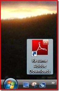 desktop shortcut for adobe