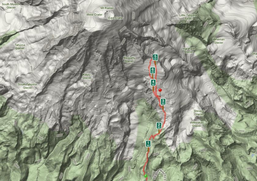 Camp Muir Hike Path