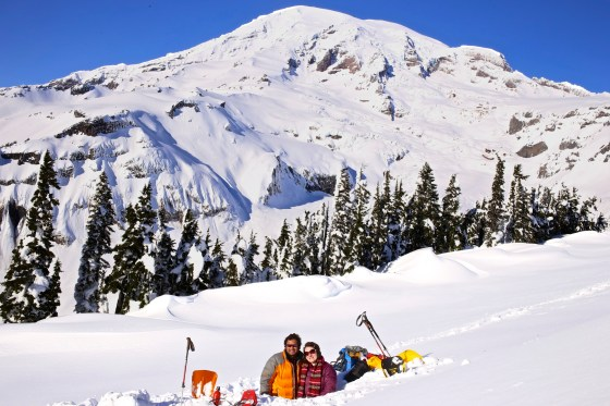Welcoming 2013 from our snow cave on Mt. Rainier