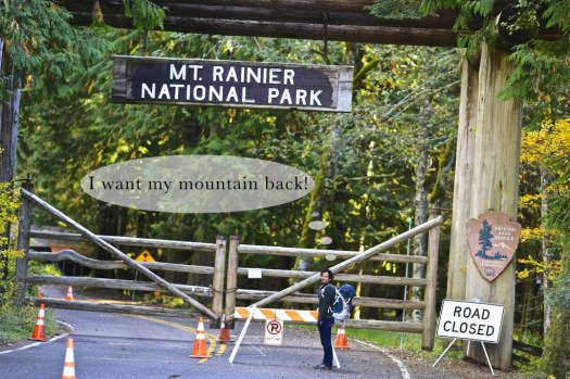 Mount Rainier Shut Down