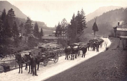 sach 08 183 Holztransport 1918