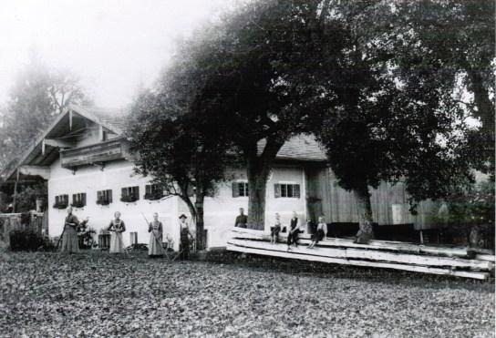 Altes Haus Stiedering um 1913 - I