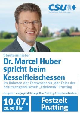 Dr. Marcel Huber 10.07. Festzelt Prutting