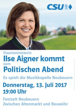 Ilse Aigner Festzelt Neubeuern 13. Juli 2017