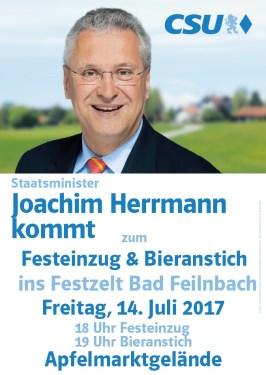 Innenminister Joachim Herrmann spricht in Bad Feilnbach 14.07.2017