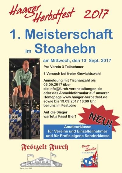Plakat Stoahebn