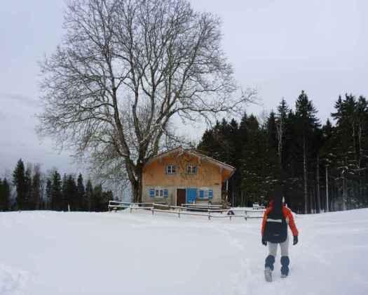 Winterwandern und Jodeln auf der Kaeseralm VIII