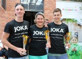 2. Platz JOKA Team Thommy Wick (v.li.n.re.): Thomas Wick, Katja Göbel und Benedikt Kendler.