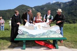 Inauguration Of Carolin Reiber's Bench In Aschau