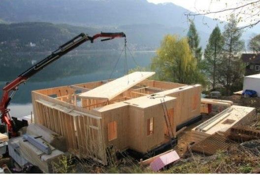 Herstellung Kommunal/ Privathäuser in Holzbauweise