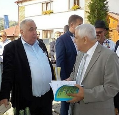 Unternehmer Emil Iugan und Agrarminister Petre Daea