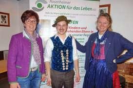 Freuten sich im Vorjahr gemeinsam über die Benefiz-Veranstaltung für die Rosenheimer AKTION für das Leben von links: 2. Vorsitzende Ulrike Plankl, Organisator Josef Grünbeck und Geschäftsführerin Brigitte Plank.