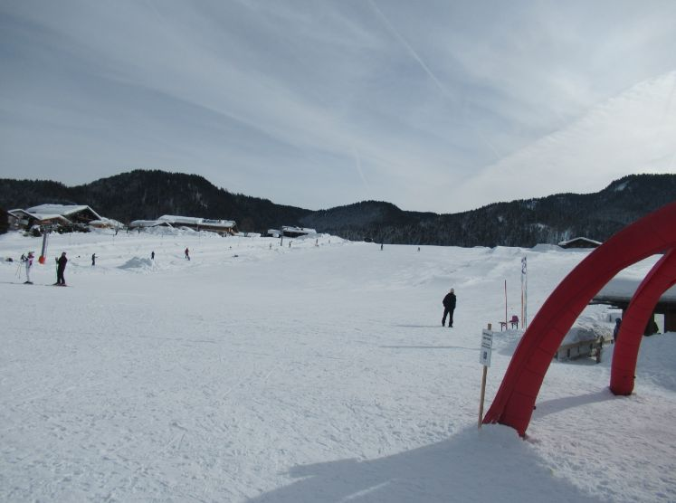 neben der Loipe: bei den Skiliften Benzeck